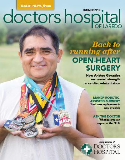 Tapa de la revista Health News - Verano 2018