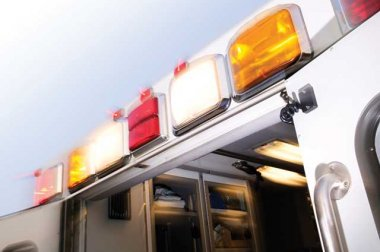 Emergency vehicle doors and lights